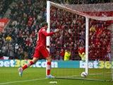 Southampton's Gaston Ramirez celebrates scoring the opening goal during the Premier League clash with West Ham on April 13, 2013