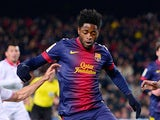 Barcelona's Alex Song in action on February 23, 2013