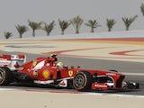 Ferrari driver Felipe Massa of Brazil steers his car during the second practice session of Bahrain Formula One Grand Prix on April 19, 2013