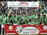 Celtic celebrates winning the Scottish Premier League on April 21, 2013