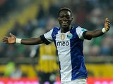 Porto's Christian Atsu celebrates scoring the opener during the match against Beira-Mar on February 15, 2013