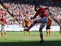 Charlton's Jon Obika scores against Wolves on April 20, 2013
