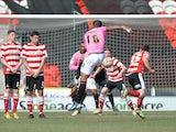 Notts County's Joss Labadie scores a goal against Doncaster on April 20, 2013