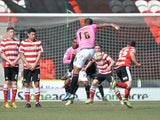 Notts County's Joss Labadie scores a goal against Doncaster on April 20, 2013