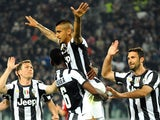 Juventus midfielder Arturo Vidal celebrates scoring against AC Milan on April 21, 2013