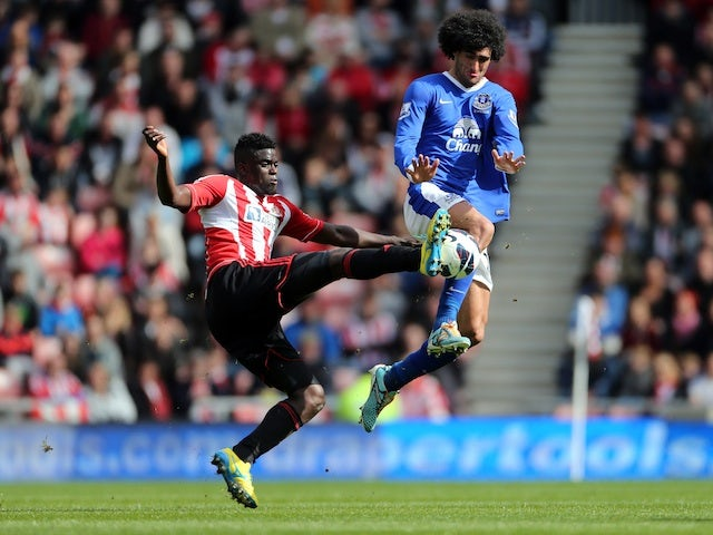 Everton's Marouane Fellaini in action against Sunderland on April 20, 2013