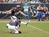 Houston Texans kicker Shayne Graham scores a field goal in the match against the Indianapolis Colts on December 16, 2012