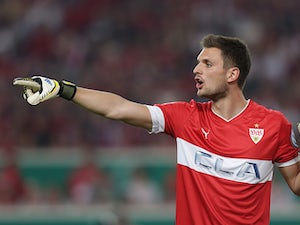 Stuttgart goalkeeper Sven Ulreich in action on April 17, 2013