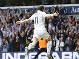 Tottenham Hotspur's Gareth Bale celebrates after scoring against Manchester City on April 21, 2013