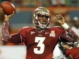 Florida State quarterback EJ Manuel during the Orange Bowl NCAA college football game against Northern Illinois on January 1, 2013