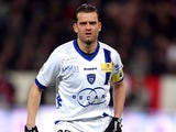Bastia's Jerome Rothen during the Ligue 1 match against PSG on February 8, 2013