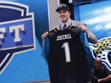Jacksonville Jaguars first round draft pick Luke Joeckel on April 25, 2013