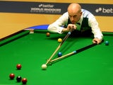 Peter Ebdon during his first round match against Graeme Dott at the Snooker World Championships on April 23, 2013
