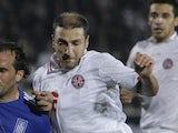 Zurab Khizanishvili of Georgia during a Euro 2012 qualifying match against Greece on October 11, 2011