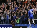 Chelsea's Fernando Torres celebrates scoring against FC Basel on May 2, 2013