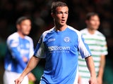 St Johnstone's Chris Millar in action against Celtic on October 30, 2012