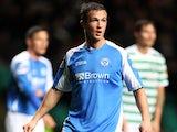 St Johnstone's Chris Millar in action against Celtic on October 30, 2012