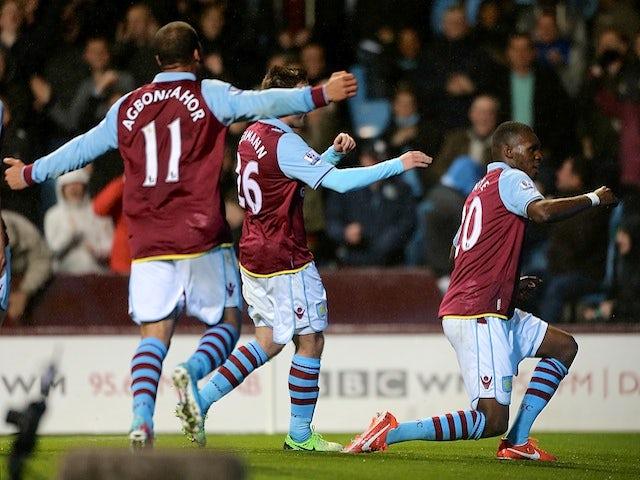 Result: Benteke hat-trick inspires heavy Villa win