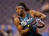 Deandre Hopkins in action during training on February 24, 2013