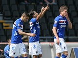 Sampdoria's Eder celebrates a goal against Udinese on May 5, 2013