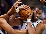 Boston Celtics center Jason Collins in action on January 30, 2013