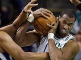 Boston Celtics center Jason Collins in action on January 30, 2013
