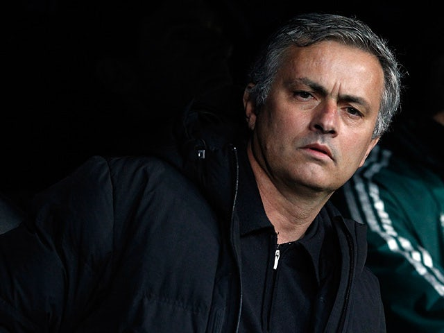 Real Madrid boss Jose Mourinho prior to kick-off against Borussia Dortmund in the Champions League on April 30, 2013