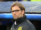 Borussia Dortmund boss Jurgen Klopp prior to kick-off against Real Madrid in the Champions League on April 30, 2013