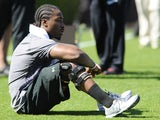 South Carolina's Marcus Lattimore at Pro Day on March 27, 2013