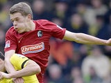 Freiburg's Matthias Ginter in action on February 23, 2013