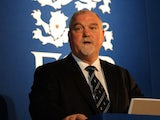 Ex-England cricketer Mike Gatting talking on April 7, 2008