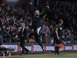 Villa boss Paul Lambert does his best Paulo Di Canio impression against Sunderland on April 29, 2013