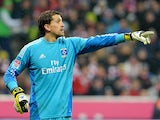 Hamburg keeper Rene Adler in action on March 30, 2013