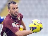 Torino's Riccardo Meggiorini in action on October 28, 2012