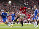 United striker Robin Van Persie in action against Chelsea on May 5, 2013