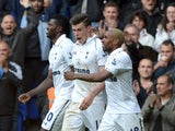 Tottenham Hotspur's Gareth Bale celebrates after scoring against Southampton on May 4, 2013