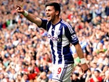 West Bromwich Albion's Shane Long celebrates after he scores against Wigan on May 4, 2013