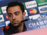 FC Barcelona midfielder Xavi during a press conference on April 22, 2013