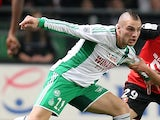 St Etienne's Yohan Mollo in action against Rennes on March 8, 2013