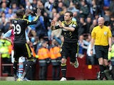 Chelsea's Frank Lampard celebrates scoring the equalising goal in the Premier League clash with Aston Villa on May 11, 2013