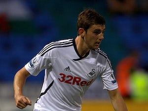 Swansea City's Daniel Alfei in action on August 23, 2011