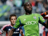 Seattle Sounders' Djimi Traore in action on April 13, 2013
