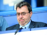 BBC commentator Jonathan Pearce in the stands during Portsmouth Fulham on May 11, 2008