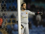 Watford goalkeeper Manuel Almunia in action on April 16, 2013