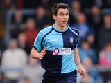 Wycombe Wanderers player Matt Bloomfield during the League Two match against Stevenage on March 12, 2011