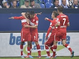 Stuttgart's Vedad Ibisevic celebrates after scoring against Schalke in the Bundesliga clash on May 11, 2013