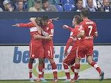 Stuttgart's Vedad Ibisevic celebrates after scoring against Schalke in the Bundesliga clash on May 11, 2013