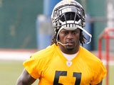 Pittsburgh Steelers linebacker Sean Spence during training on May 22, 2013