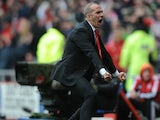 Sunderland manager Paulo Di Canio celebrates after his side's goal against Southampton on May 12, 2013