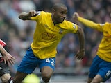 Southampton's Jason Puncheon celebrates scoring the equalising goal in the match against Sunderland on May 12, 2013